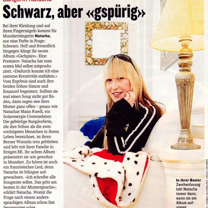 """Schwarz , aber """" gspürig """" - SI - NATACHA"""