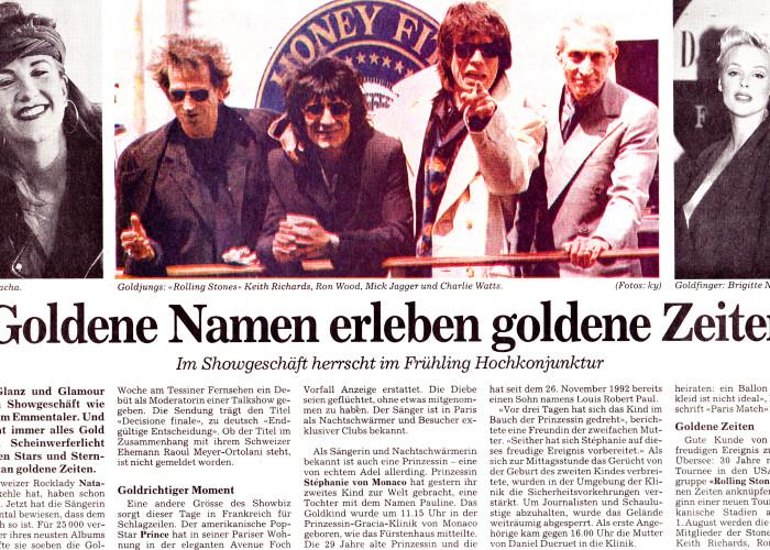 Goldene Namen erleben goldene Zeiten - NZZ - NATACHA
