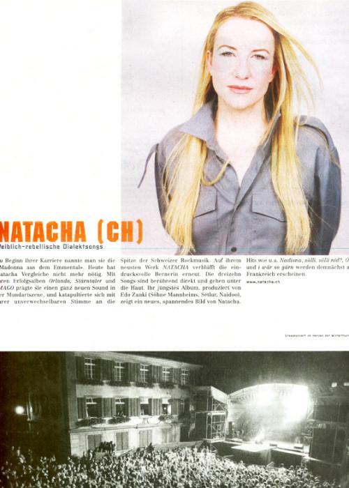Natacha live OA - NATACHA und BAND