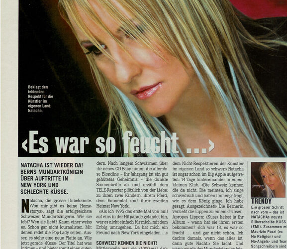 """ Es war so feucht ""  -  NATACHA"