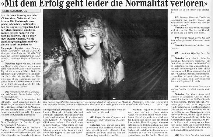 """ Mit dem Erfolg ... - NATACHA"