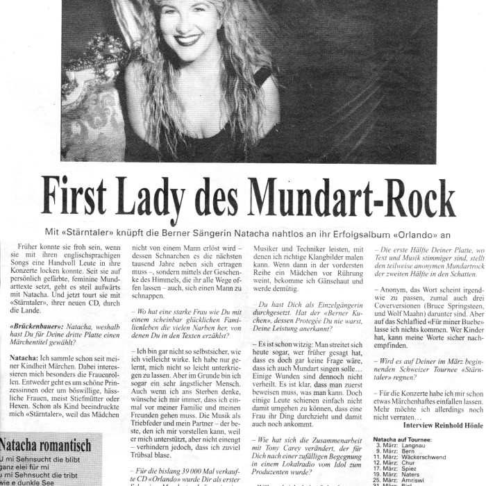 First Lady des Mundart - Rock - NATACHA